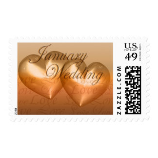 KRW Two Hearts January Wedding Amber Postage