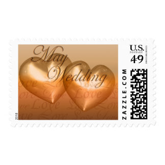 KRW Two Hearts May Wedding Amber Postage