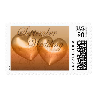 KRW Two Hearts September Wedding Amber Postage