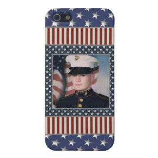 KRW USA Patriotic Photo Frame i Case For iPhone SE/5/5s