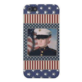 KRW USA Patriotic Photo Frame i Cover For iPhone SE/5/5s