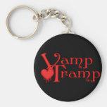 KRW Vamp Tramp Blood Dripping Heart Basic Round Button Keychain