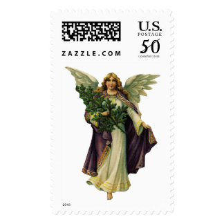 KRW Victorian Angel Holiday Stamp