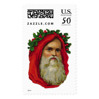 KRW Victorian Father Christmas Santa Stamp