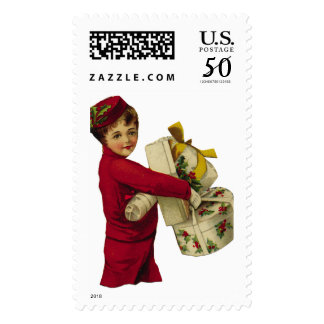 KRW Victorian Holiday Shopper Christmas Stamp