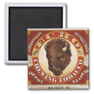 KRW Vintage 1873 Echo Chewing Tobacco Label Magnet