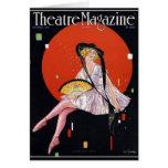 KRW Vintage 1921 Theater Magazine Blank Card
