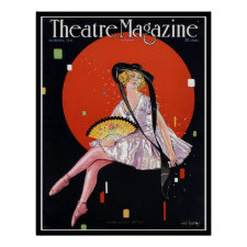 KRW Vintage 1921 Theater Magazine Cover Print print