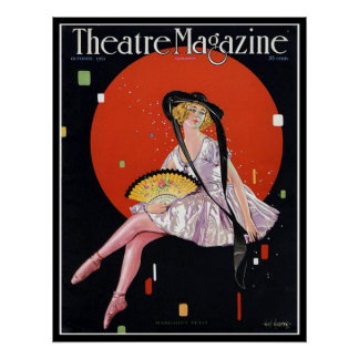 KRW Vintage 1921 Theater Magazine Cover Print