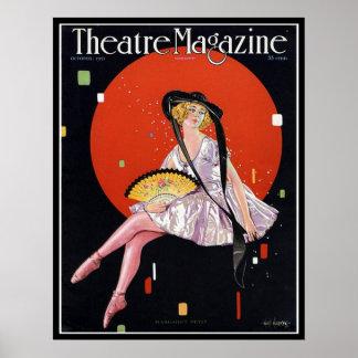 KRW Vintage 1921 Theater Magazine Cover Print