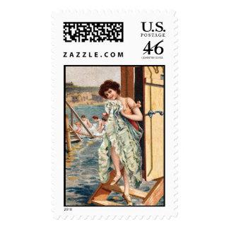 KRW Vintage Beach Illustration Stamp