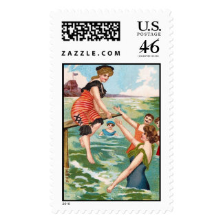 KRW Vintage Beach Illustration Stamps