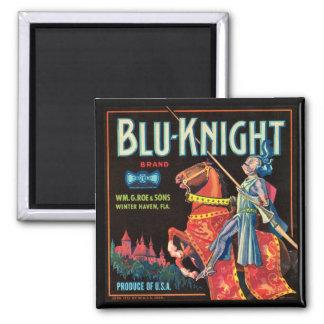 KRW Vintage Blu-Knight Fruit Crate Magnet