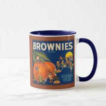 KRW Vintage Brownies Oranges Fruit Crate Label Mug