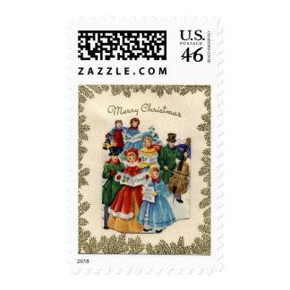 KRW Vintage Carolers Holiday Stamp