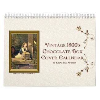 KRW Vintage Chocolate Box Cover Calendar 2012