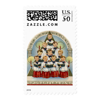 KRW Vintage Choir Holiday Stamp