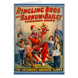 KRW Vintage Circus Clown Card