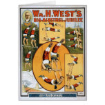 KRW Vintage Circus Poster Card