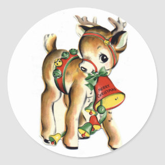 KRW Vintage Cute Lil Reindeer Holiday Sticker
