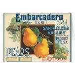 KRW Vintage Embarcadero Pears Crate Label