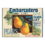 KRW Vintage Embarcadero Pears Crate Label Card