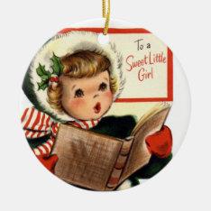 Krw Vintage For Sweet Little Girl Custom Ornament at Zazzle