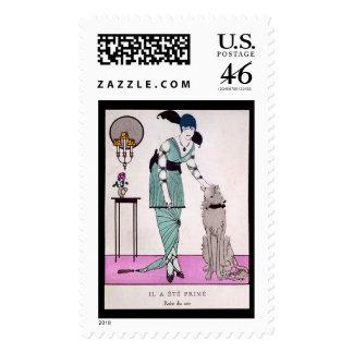 KRW Vintage Gazette du Bon Ton 1914 Stamp
