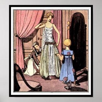 KRW Vintage Gazette du Bon Ton 1922 Fashion Print