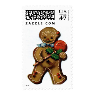 KRW Vintage Gingerbread Man Holiday Stamp