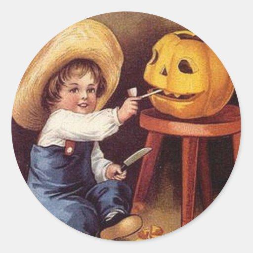 KRW Vintage Halloween Child Sticker