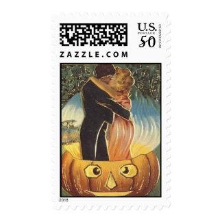 KRW Vintage Halloween Romance Postage
