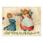 KRW Vintage Halloween Wishes Postcard