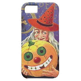 KRW Vintage Halloween Witch and Pumpkin Case