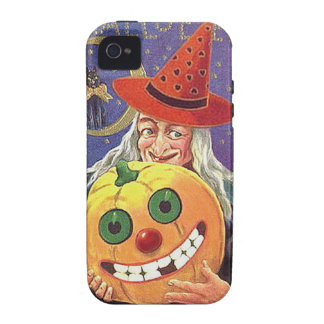 KRW Vintage Halloween Witch and Pumpkin Case Case-Mate iPhone 4 Cover