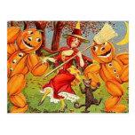 KRW Vintage Halloween Witch Dance Postcard