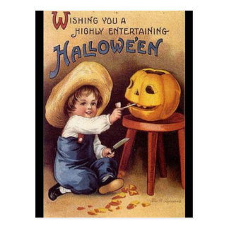 KRW Vintage Highly Entertaining Halloween Card