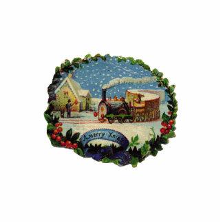 KRW Vintage Holiday Scene Sculpture Ornament