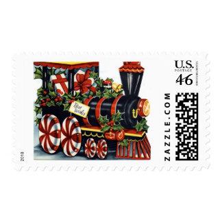 KRW Vintage Holiday Train Stamp