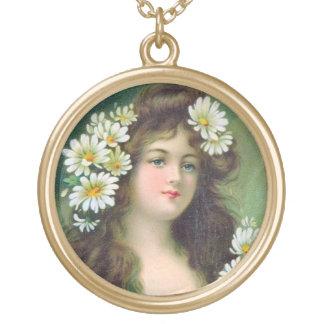 KRW Vintage Irish Lass Sterling Silver Necklace