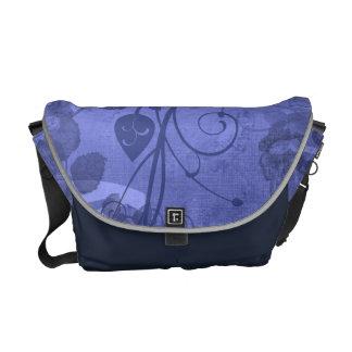 KRW Vintage Layered Rose Blue Messenger Bag
