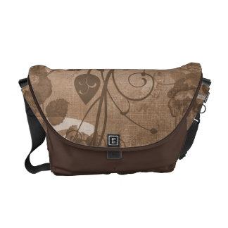 KRW Vintage Layered Rose Brown Messenger Bag