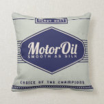 KRW Vintage Motor Oil Label Decor Pillow