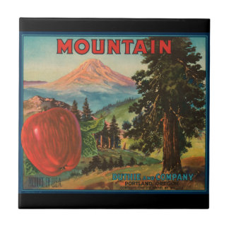 KRW Vintage Mountain Apples Fruit Crate Label Tile