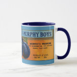KRW Vintage Murphy Boys Plums Crate Label Mug