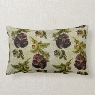 KRW Vintage Pansy Decor Pillow