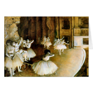 KRW Vintage Rehersal of a Ballet on Stage Card