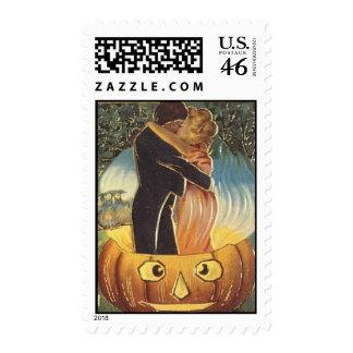 KRW Vintage Romantic Happy Halloween Postage