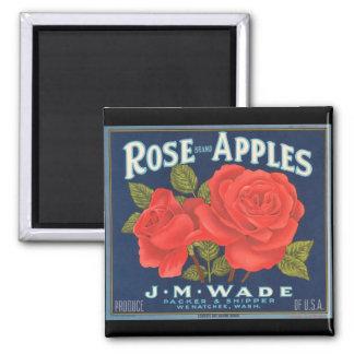 KRW Vintage Rose Apples Fruit Crate Label Magnet