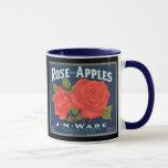 KRW Vintage Rose Apples Fruit Crate Label Mug